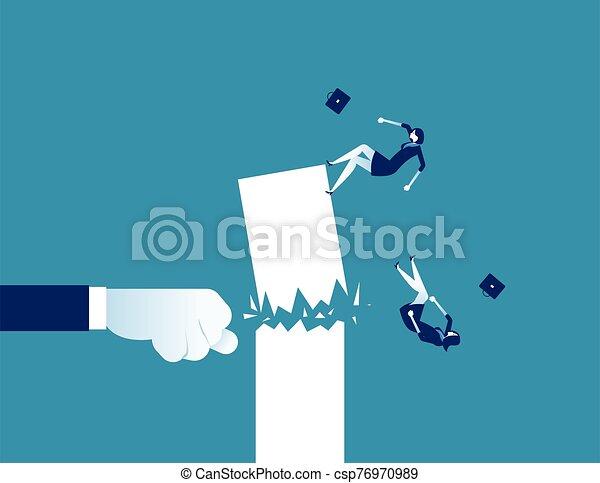 poing, détruire, concept, illustration., success., business, vecteur - csp76970989