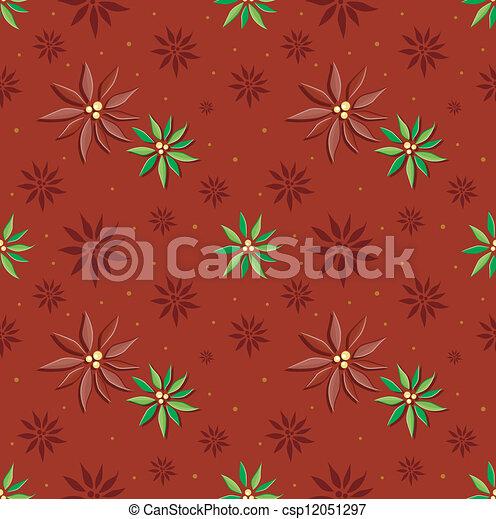 Poinsettia Background - csp12051297