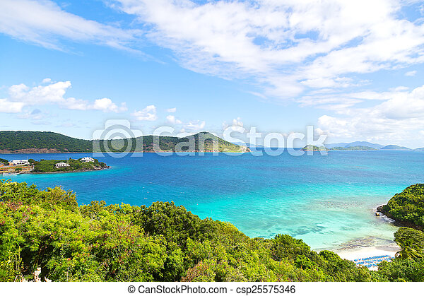 point pleasant bay st thomas island magnificent colorful view of