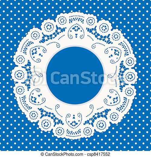 point, polka, dentelle, fond, cadre - csp8417552