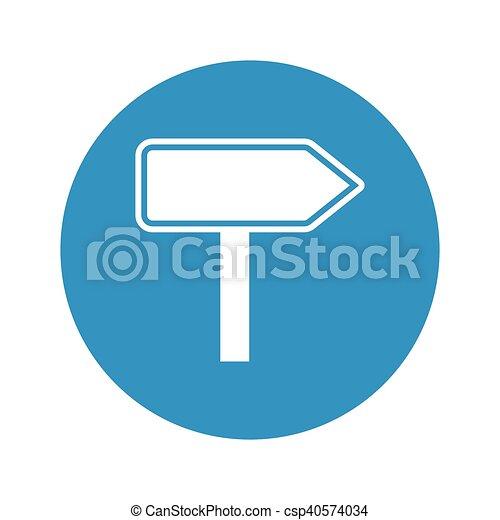 pointer icon on white background - csp40574034