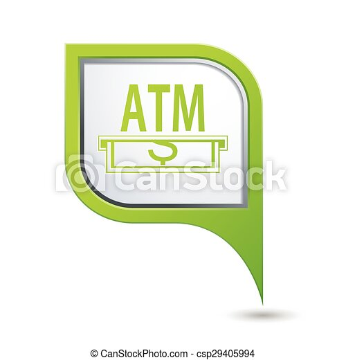 Pointer with ATM cashpoint icon - csp29405994