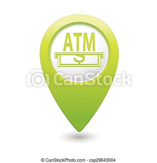 Pointer with ATM cashpoint icon - csp29643004