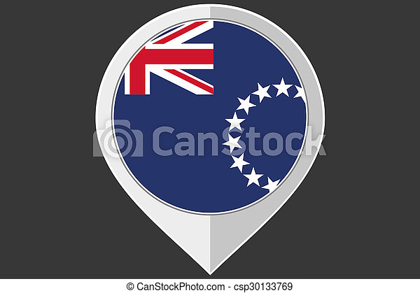 Pointer with the flag of Cook Islands - csp30133769