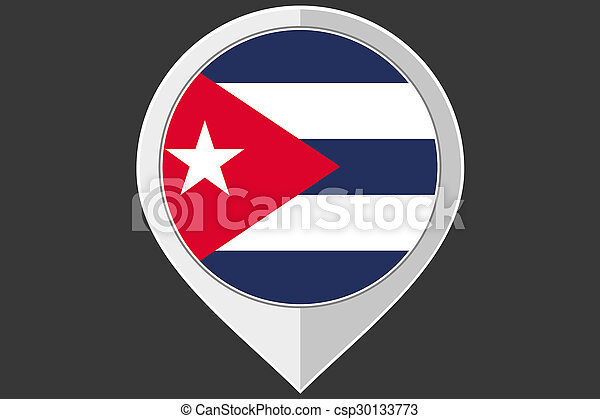 Pointer with the flag of Cuba - csp30133773