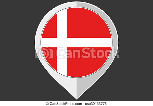 Pointer with the flag of Denmark - csp30133776