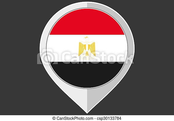 Pointer with the flag of Egypt - csp30133784