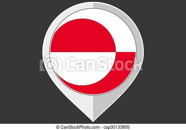 Pointer with the flag of Greenland - csp30133805