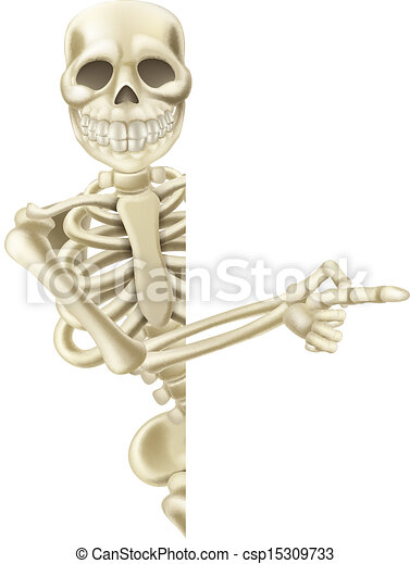 Pointing cartoon halloween skeleton illustration of a - Dessiner un squelette ...
