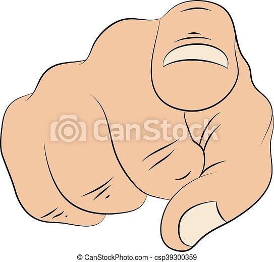 pointing finger - csp39300359