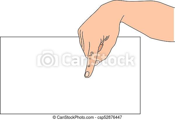 Pointing finger - csp52876447