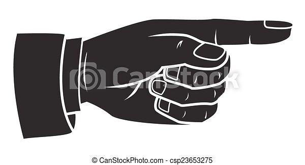 Pointing finger - csp23653275
