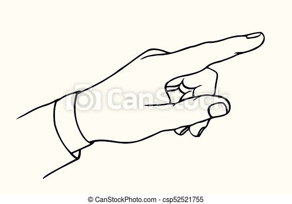 pointing hand finger pointing finger vector black vintage engraved illustration isolated on a white background hand sign https www canstockphoto com pointing hand finger 52521755 html