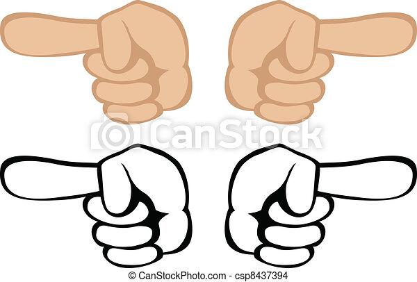Pointing hand gesture - csp8437394