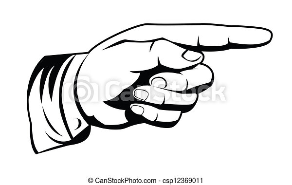 pointing hand - csp12369011