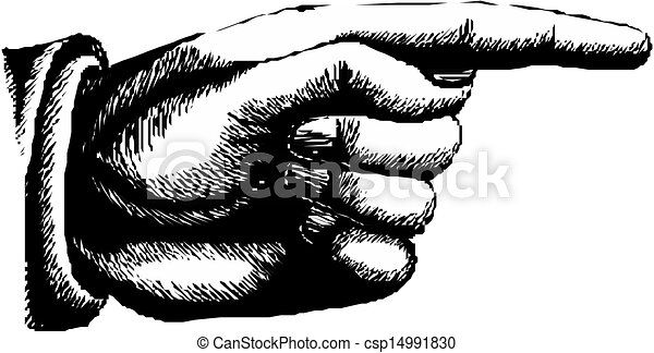 pointing hand vector hand with pointing finger on white background https www canstockphoto com pointing hand vector 14991830 html