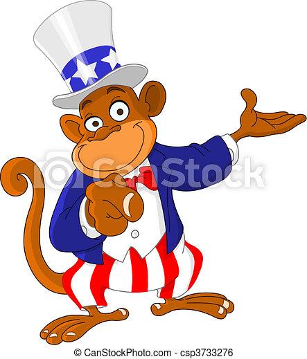 Pointing monkey - csp3733276