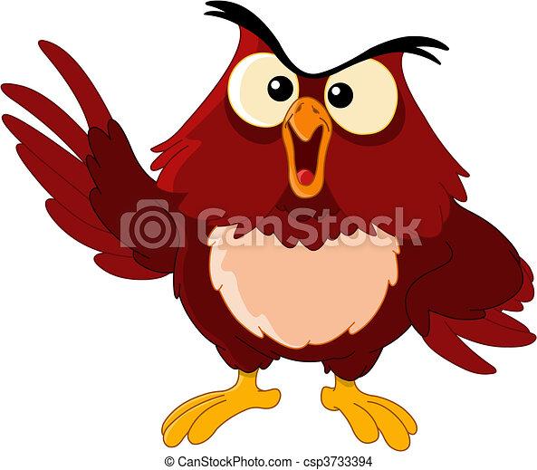 pointing owl - csp3733394