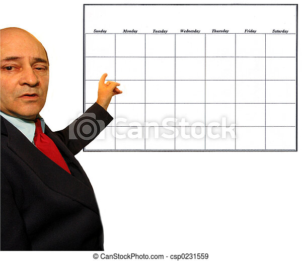 Pointing to Calendar - csp0231559