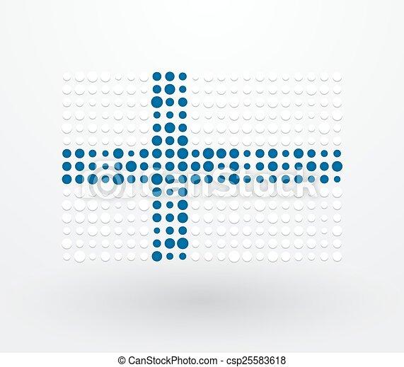 points, drapeau, réconcilié, finlande - csp25583618