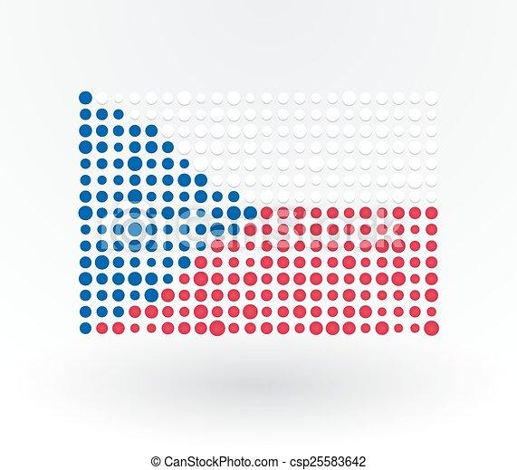 points, drapeau tchèque, réconcilié - csp25583642