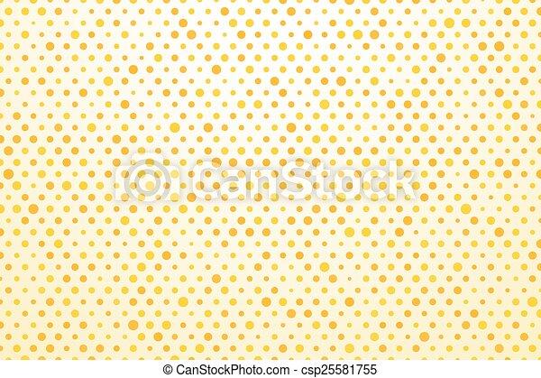 points, polka, fond, jaune - csp25581755