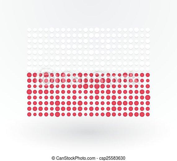 points, pologne, fait, fléchir haut - csp25583630