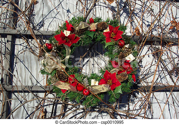 Pointsetta Wreath - csp0010995