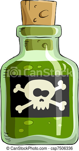 poison bottle of poison on a white background vector rh canstockphoto com poison clipart black and white poison apple clipart