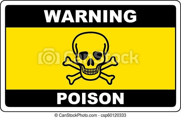 poison danger sign warning vector dangerous symbol