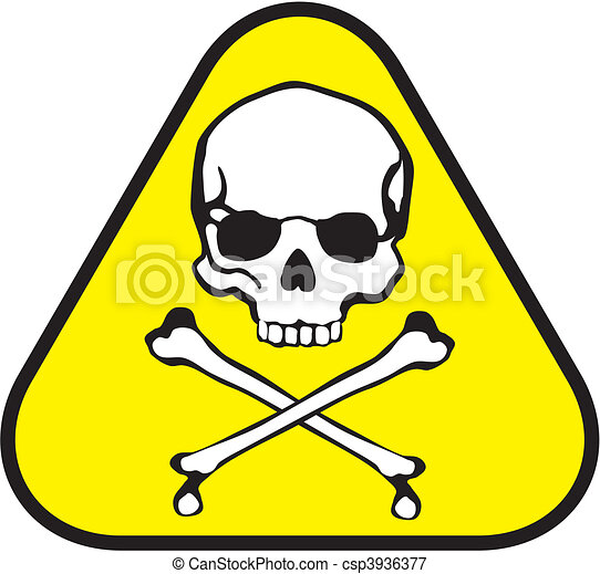 Poison Label Isolated Triangle Sticker Of Poison Symbol Vectors