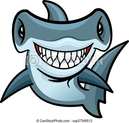 Poisson marteau caract re dessin anim requin heureux - Dessin requin marteau ...