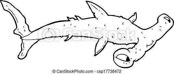 Poisson marteau dessin anim requin - Dessin requin marteau ...