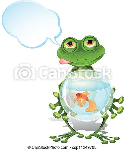 poisson rouge, grenouille - csp11249705