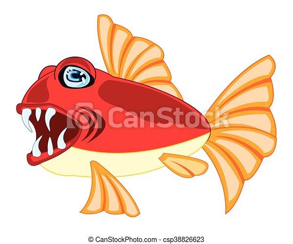 poisson tropical, blanc - csp38826623