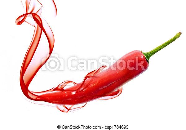 poivre, piment, rouge chaud - csp1784693