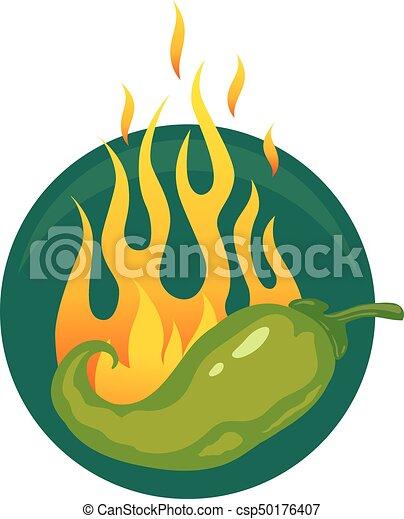 poivres, piment chaud, jalapeno, ou - csp50176407