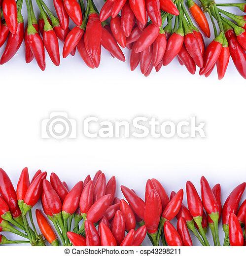 poivres, piment chaud, rouges - csp43298211