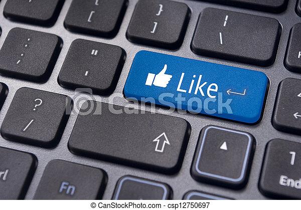 pojęcia, podobny, media, klawiatura, guzik, towarzyski, wiadomość - csp12750697