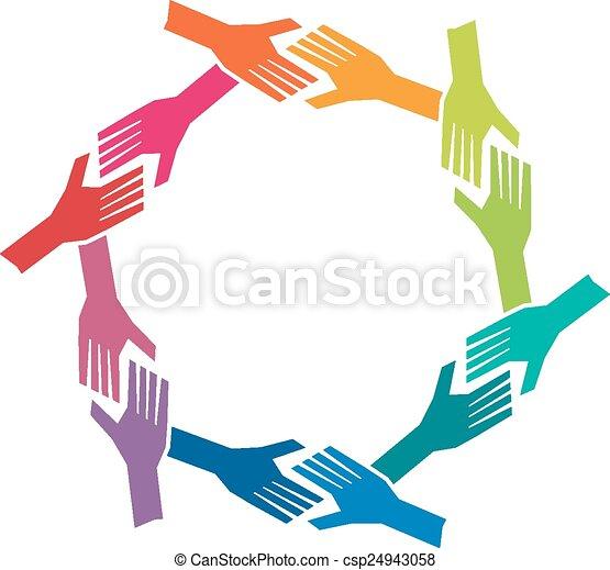 pojęcie, grupa, och, ludzie, teamwork, siła robocza, circle. - csp24943058