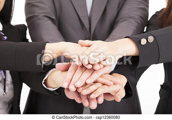 pojęcie, handlowy, razem, ręka, teamwork, drużyna - csp12360080