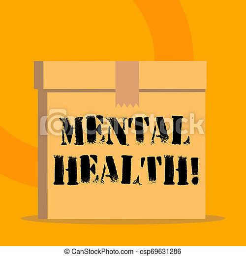 pojęcie, mentalny, poziom, tekst, wellbeing, treść, psychologiczny, demonstrating., stan, pismo, albo, health. - csp69631286