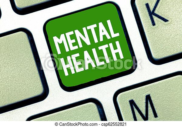 pojęcie, mentalny, tekst, wellbeing, psychologiczny, treść, demonstrowanie, emocjonalny, pismo, warunek, health. - csp62552821