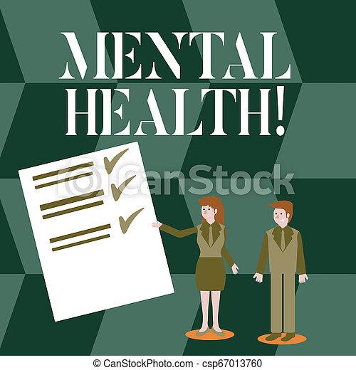 pojęcie, mentalny, tekst, wellbeing, psychologiczny, demonstrating., treść, emocjonalny, pismo, warunek, health. - csp67013760