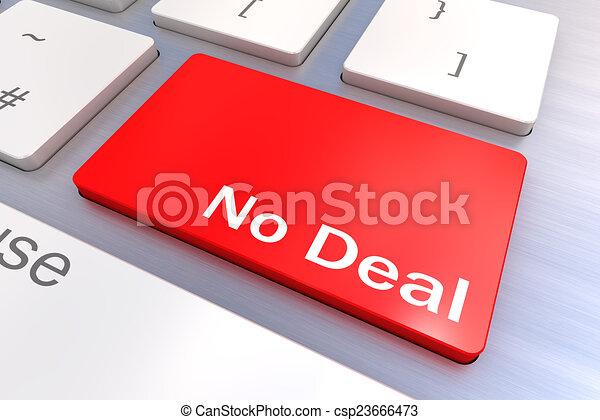 pojęcie, nie, transakcja, klawiatura - csp23666473