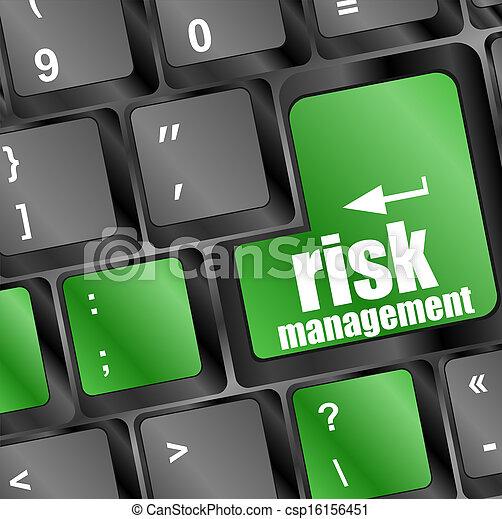 pojęcie, ryzyko, klawiatura, guzik, kierownictwo, internet - csp16156451