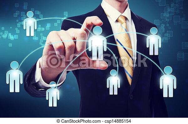 pojęcie, tworzenie sieci, towarzyski - csp14885154