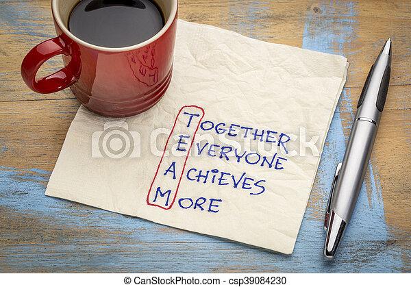 pojem, kolektivní práce, plenka - csp39084230