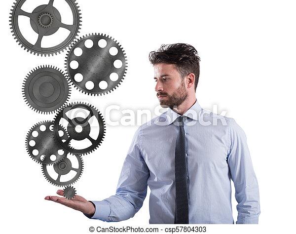 pojem, nářadí, povolání, system., podpora, mechanismus, obchodník - csp57804303