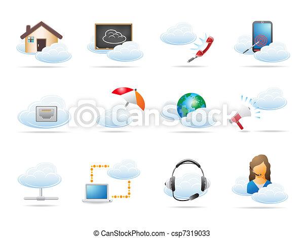 pojem, počítací, mračno, ikona - csp7319033